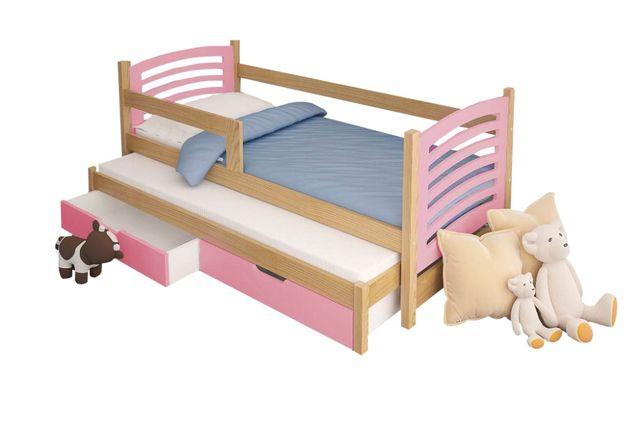 Łóżko podwójne OLI 180x75 + 2x szuflada + materace. NOWOŚĆ