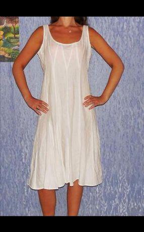 Лляне плаття (сукня, платье, лен, льон, сарафан) , Р. 14, ХL, L