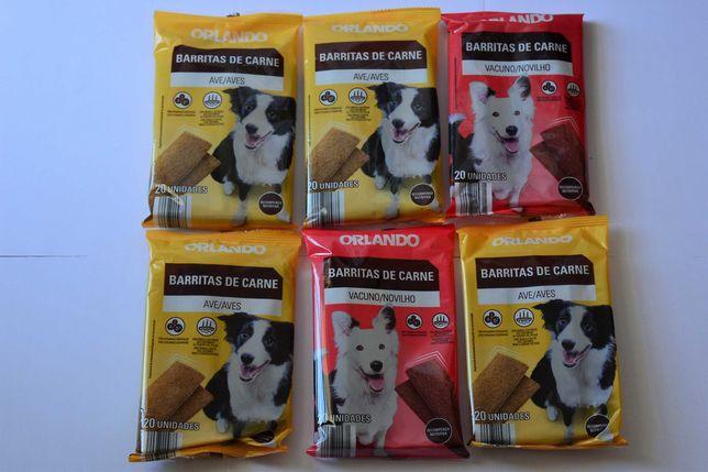 6 pacotes de 20 barritas de carne para cão