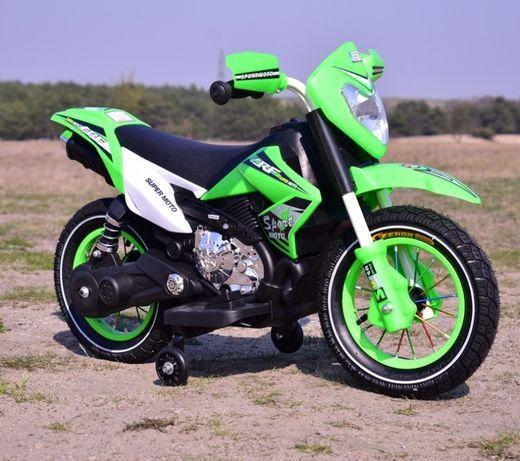 Super motor na akumulator cross dla najmlodszych, pompowane koła usb!!