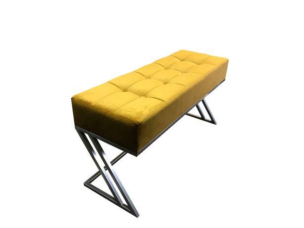 Ławka tapicerowana, pufa, siedzisko - Glamour, Loft