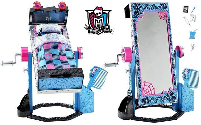 Monster high Upiorne łóżko lustro Frankie Stein Unikat!! Nowe !