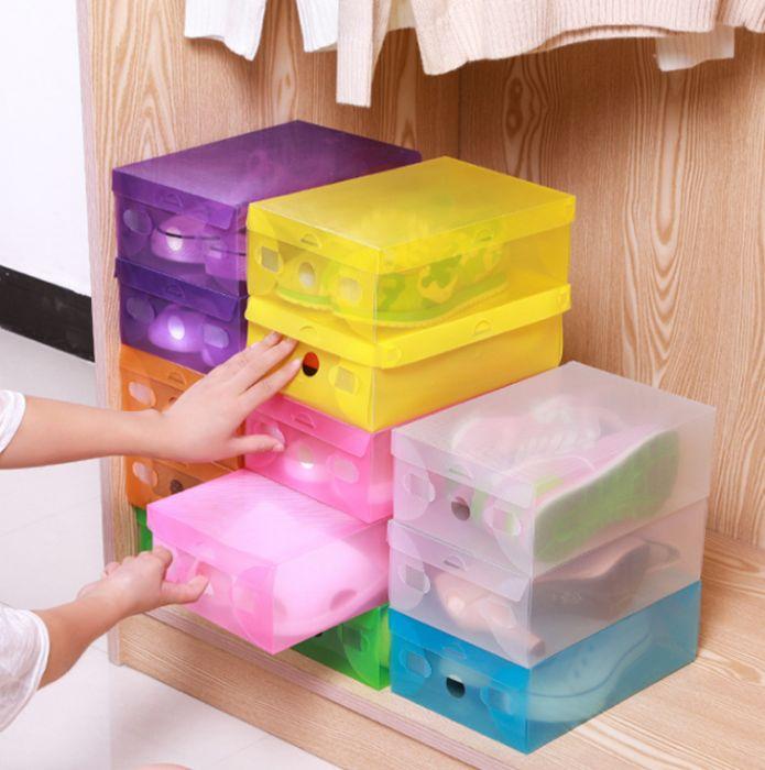 Коробки для обуви прозрачная хранение обувные box органайзер пластик Черкассы - изображение 1
