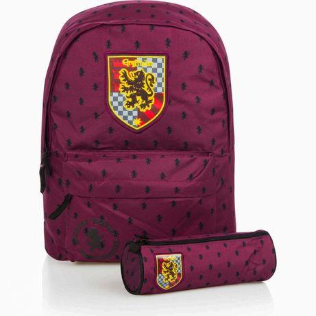 Школьный рюкзак с пеналом Гарри Поттер Гриффиндор бордовый