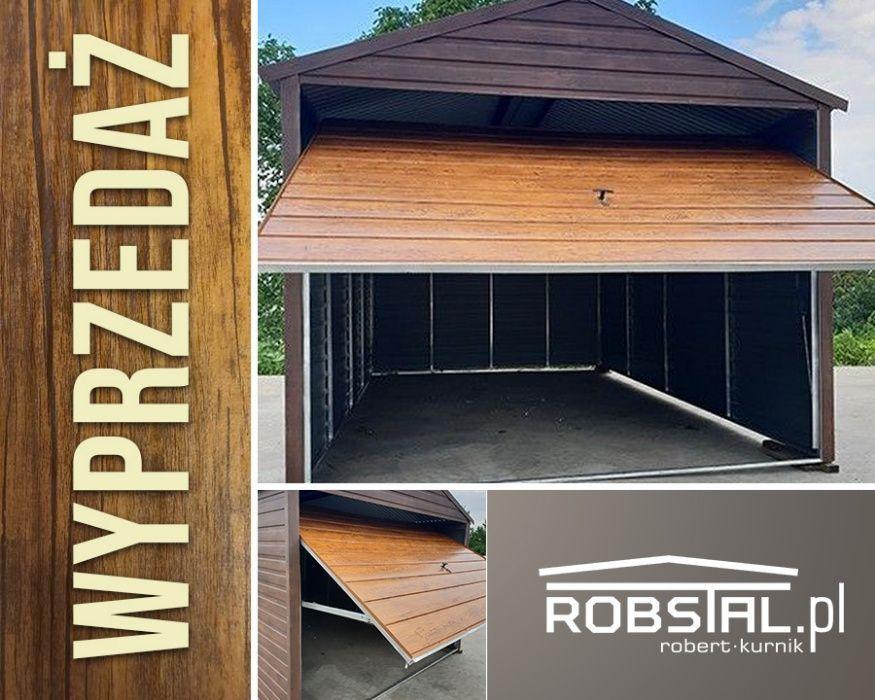 Garaż drewnopodobny 3x6 dwuspadowy poziomy trapez WYPRZEDAŻ
