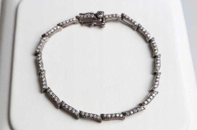 33) Bransoletka srebro 925 z cyrkoniami