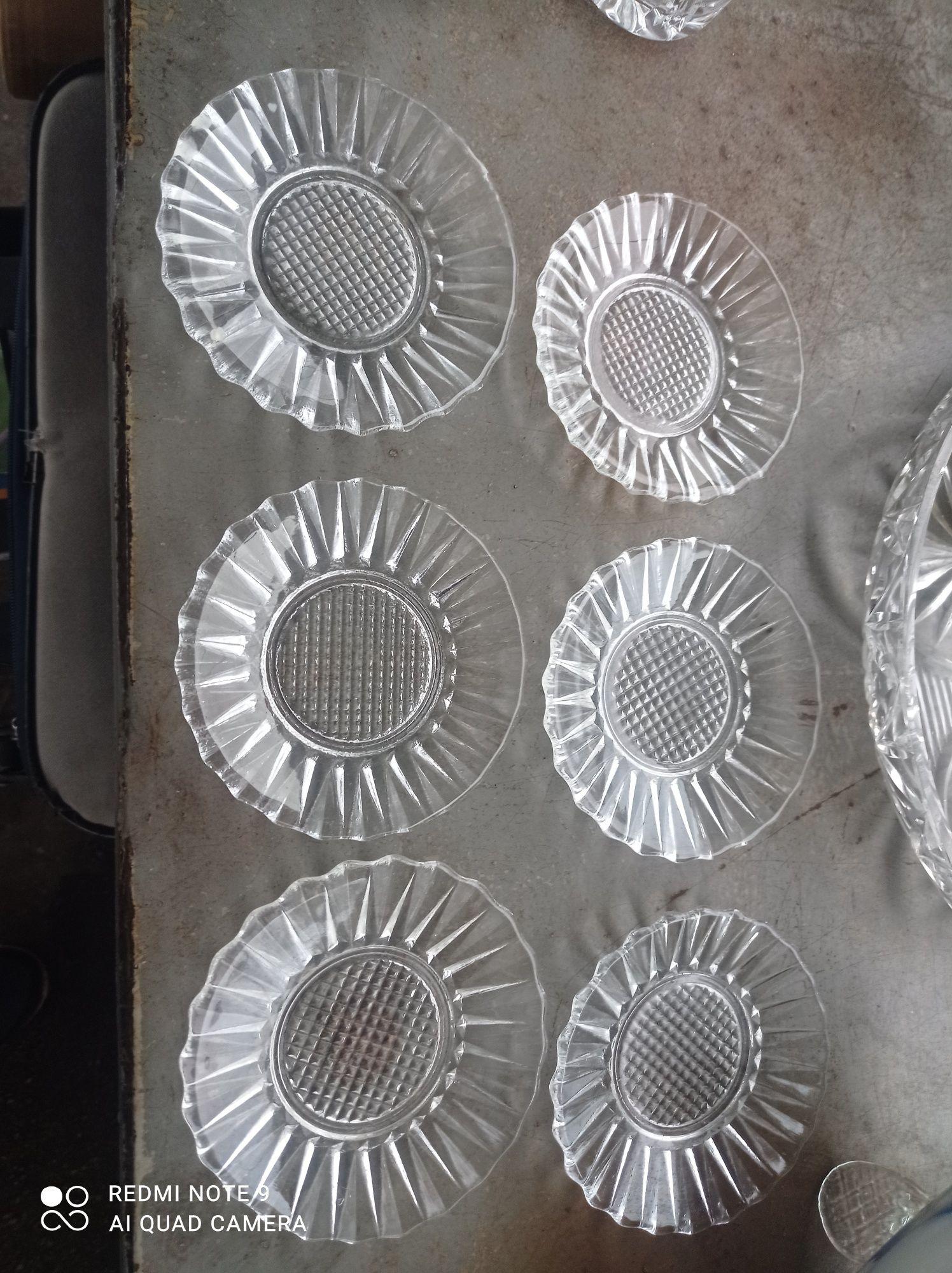 Talerzyki spodeczki pod szklanki Ząbkowice słoneczniki 6 sztuk komplet