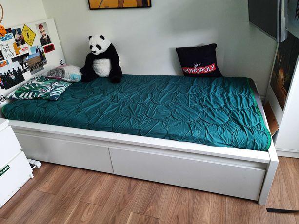 Łóżko  z szufladami Malm Ikea 200x90 plus materac