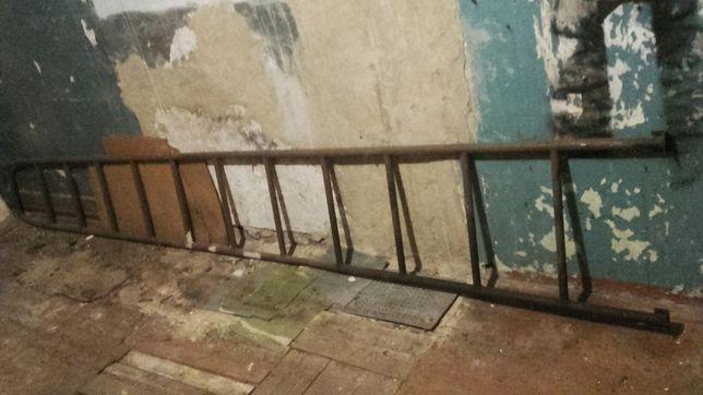 Лестница 4 метра (4 м) металл (приставная стремянка) советская СССР