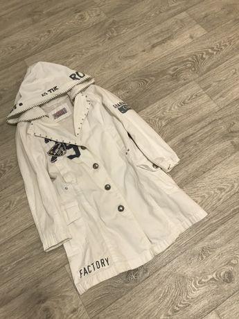 Ветровка -пальто удлиненная на рост 134 см