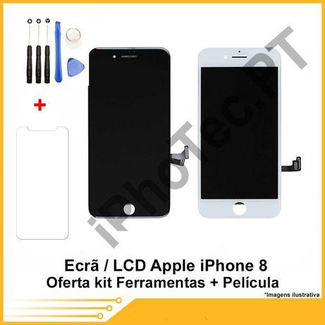 ECRÃ / TOUCH + LCD iPhone 8  Oferta película + kit ferramenta
