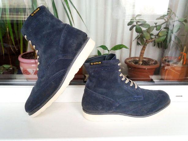 """Дорогие стильные мягкие и замшевые ботинки """"G-Star Raw"""", Голландия!"""
