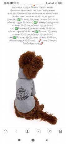 Одежда Толстовка для собачки
