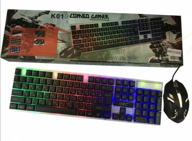 Комплект Клавиатура и мышка с LED подсветкой/KEYBOARD