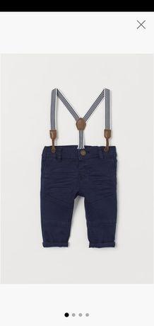 Spodnie hm z szelkami