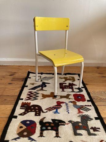 Piękne stare krzesełko dziecięce vintage design old school PRL