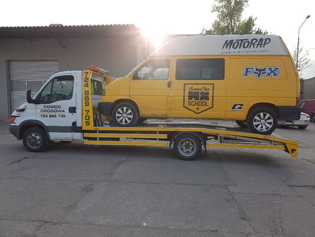 Pomoc Drogowa Wrocław Laweta Transport Samochodów Maszyn Budowlanych