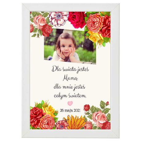 prezent na Dzień Matki, obrazek w ramce A4