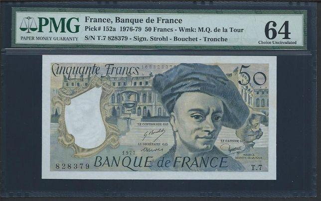 "1976-79 FRANCJA 50 FRANCJE ""BANKU DE france"""