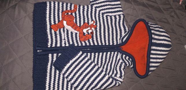 Ocieplony sweterek roz 80