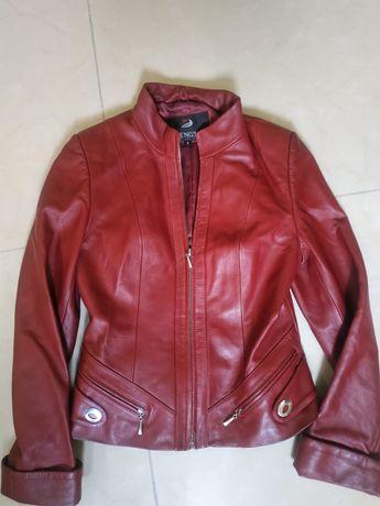 Кожаная куртка подростковая женская
