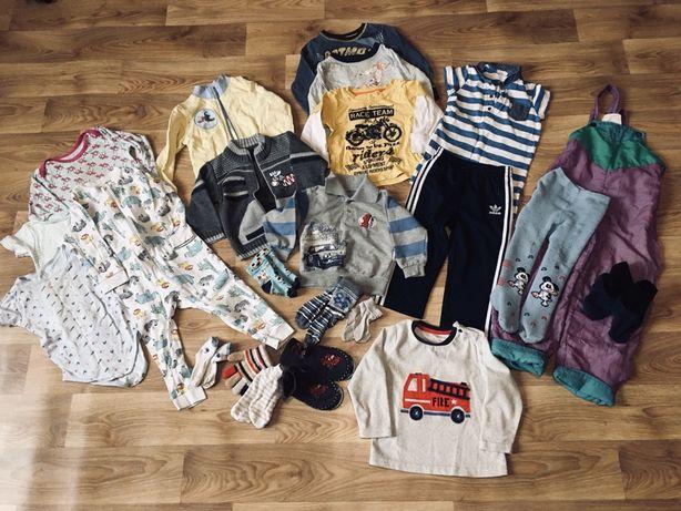 человечек кофты тапочки большой пакет вещей одежды 1-2 года 80-92 лот