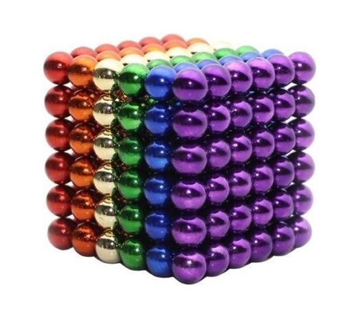 Неокуб (NeoCube) в боксе Silver 216 шариков стальной цветной радуга
