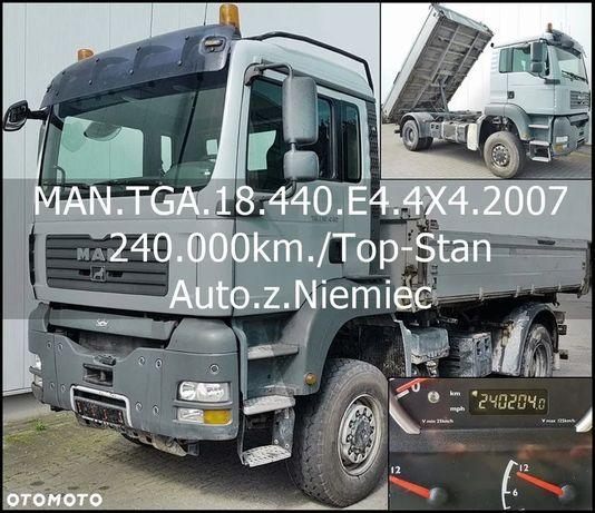 MAN Bezwypadkowy_Serwisowany_TOP-STAN  TGA.18.440/4X4/3.Str.Wywrotka/Auto.z.Niemiec