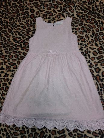 Elegancka sukienka koronkowa H&M 122-128