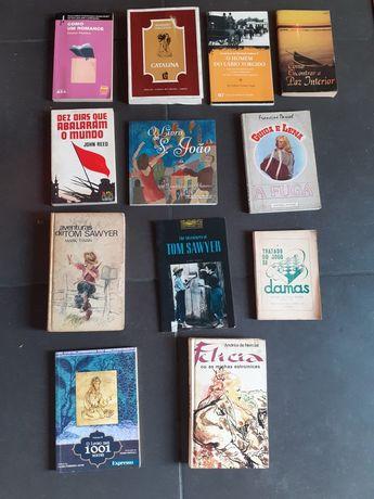 Livros antigos : Tom Sawyer e outros : conj 12 livros
