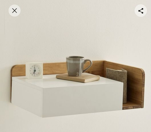 2 mesas cabeceira La Redoute na caixa nunca aberta