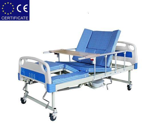 Медицинская кровать с туалетом Е30. Кровать для инвалида.