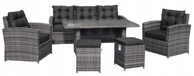 Komplet Meble Ogrodowe Technorattan Sofa Fotele 201011-B