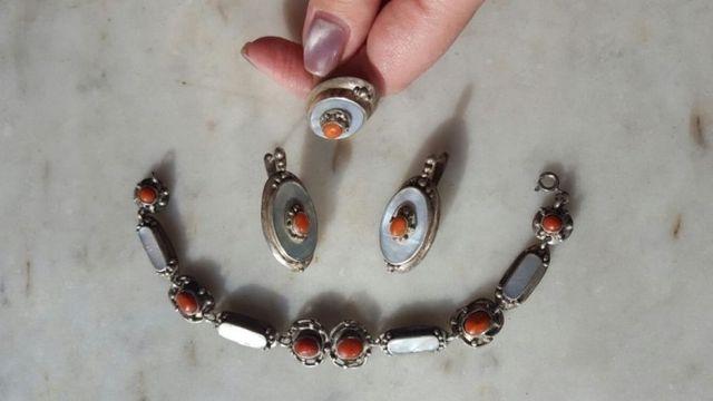 Шикарные серебряные наборы ручной работы