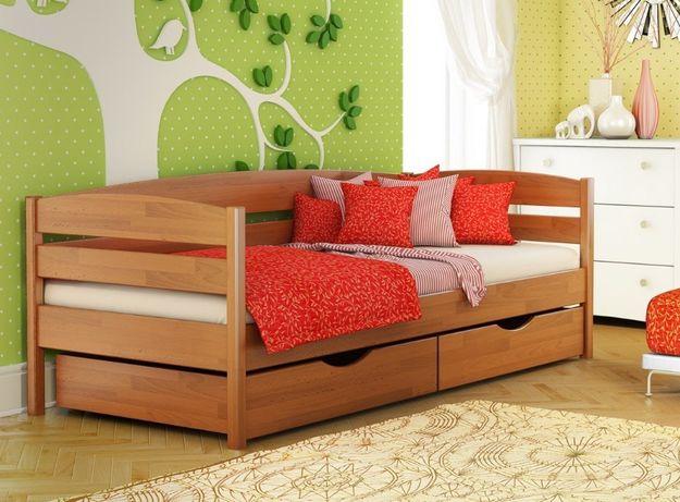 Підліткове ліжко зі щита буку Нота Плюс. Наявне на складі