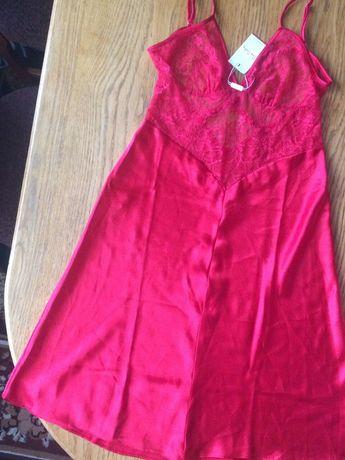 Красная комбинация, красивое белье, Pierre Cardin, S, M, білизна, нова
