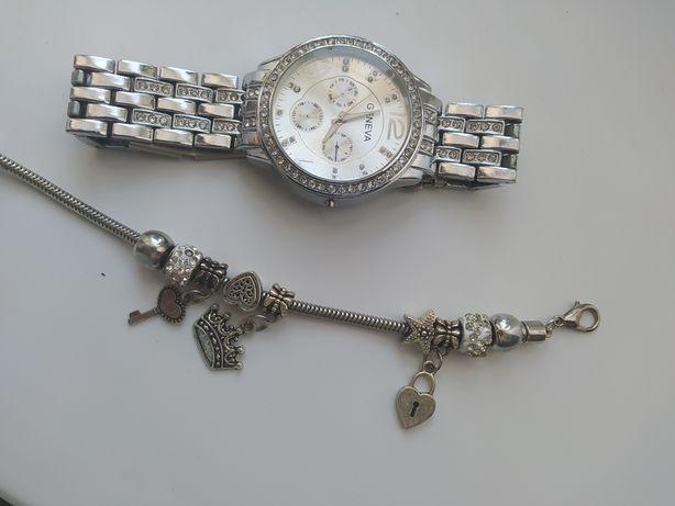 Часы браслет пандора
