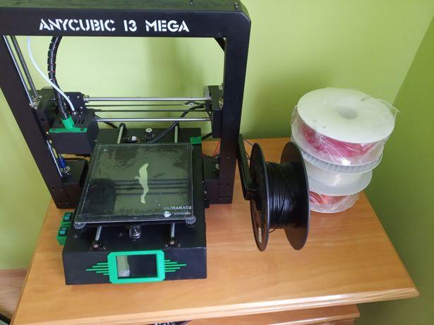 Drukarka anycubic i3mega +mody+ filament