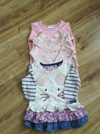 Bluzki dziecięce 18 sztuk, długi i krótki rękaw