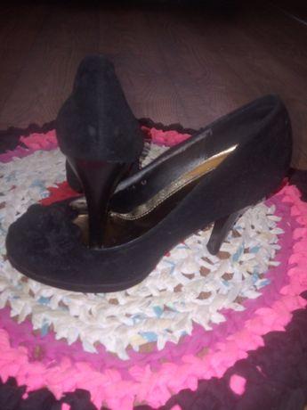 Туфли чёрные замша 36,5 размер