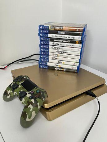 PS4 Slim 500gb Gold Złota + 12 Gier l Edycja Limitowana!