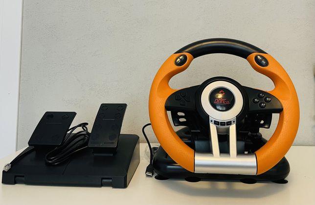 Kierownica SpeedLink DRIFT O.Z. do PC Wibracje Skrzynia Biegów