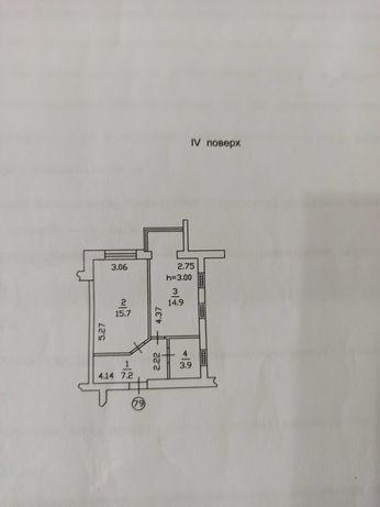 Продам 1-комнатную квартиру, 41,7 м кв, Софиевская Борщаговка