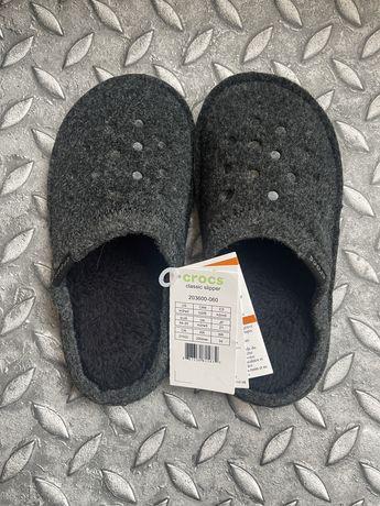 Crocs оригинал тапочки для дома комфортные тапки теплые и мягкие