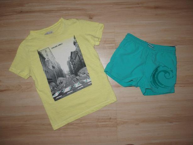Zara komplet dla chłopca na lato spodenki + t- shirt 116 / 122 6-7 lat