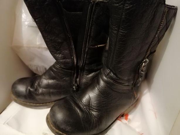 Kozaczki, buty na wiosnę, wiosenne, jesienne, nieocieplane, skórzane
