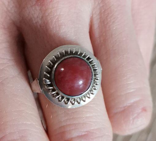 Stary srebrny pierścionek autorski z chalcedonem pr.3RR warmet resovia