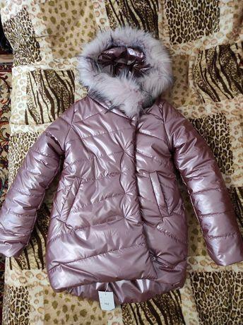 Зимняя куртка на девочку, 134 рост