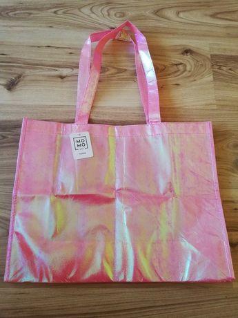Różowa torba/siatka z efektem holo