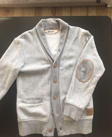Dzianinowa marynarka- bluza chłopięca rozmiar 122-128 H&M
